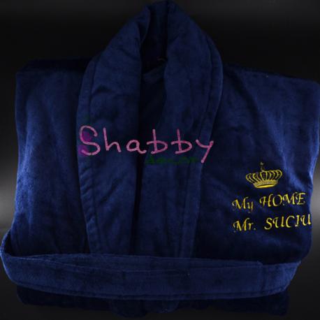 Cadou Personalizat Halat de baie Barbat - Coroana Regala