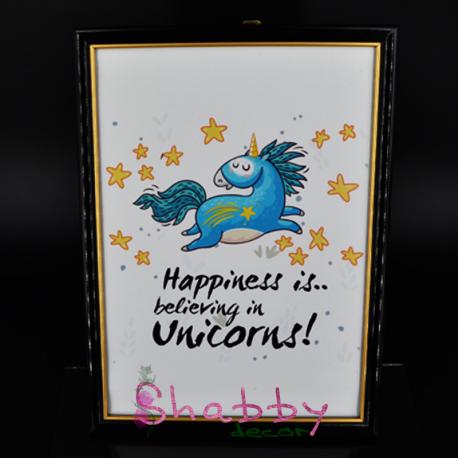 "Cadou Haios - Rama Foto ""Happy Unicorn"""