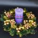 Aranjament masa Elegant Coronita Craciun Aurie cu Lumanare