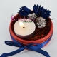 Aranjament viu - Licheni si flori uscate - cu Lumanare