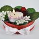 Aranjament Flori artificiale - Zmeurica - cu Lumanare