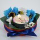 Aranjament Flori artificiale - Maci bleu - cu Lumanare