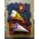 Cadou Tablou viu - Licheni decorativi si Conuri cu Flori uscate