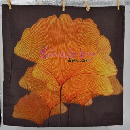 Fata de Perna decor cu Frunze tomnatice stilizate
