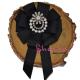 Brosa-Papion Handmade Camasa Floare Eleganta cu Perlute si Strasuri