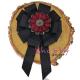Brosa-Papion Handmade Camasa Floare grena cu Strasuri