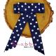 Brosa-Papion Albastra cu Buline Handmade Camasa