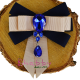 Brosa-Papion Handmade Camasa cu Accesoriu Lacrima Albastra