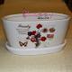 """Suport """"Jardiniera"""" ceramica cu model Floral"""