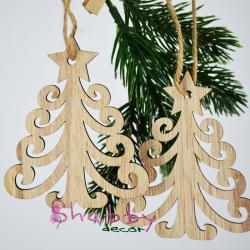 Decor Craciun - Ornament Lemn Brad