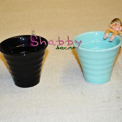 """Suport """"Pahar colorat"""" ceramica - Decor"""