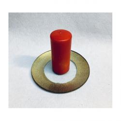 Platou Rotund Sticla Decorativ Auriu