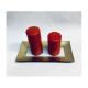Platou Dreptunghiular Sticla Decorativ Auriu 6 buc/set