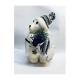 Ursulet Polar cu Fes alb-gri - Decoratiune Craciun