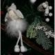 Decoratiune brad ingeras textil