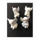 Set Ingerasi din Ceramica albi Haiosi cu Fes - Decoratiuni Craciun
