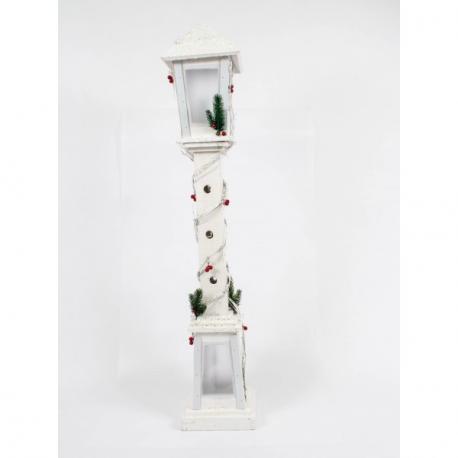 Felinar din Lemn cu Lemn 100 cm - Decor Craciun