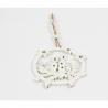 Set Ornament Brad Glob Lemn cu Lumanari Decupat - Decor Craciun