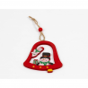 Set Ornament Brad Glob Lemn Clopotel cu Om de Zapada- Decor Craciun