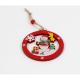 Set Ornament Brad Glob Lemn cu Om de Zapada Haios- Decor Craciun