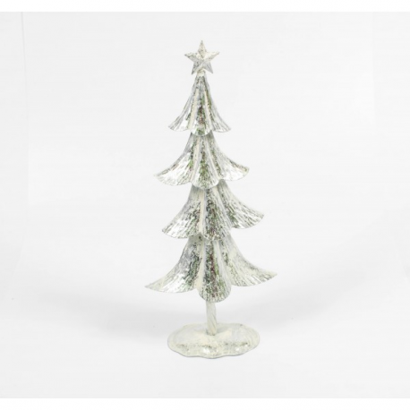 Bradut Metalic Argintiu 40 cm - Decoratiune Craciun