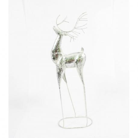 Cerb Metalic Argintiu 60 cm - Decoratiuni Craciun