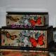 Cutie bijuterii vintage cu fluturi