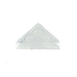 Suport metalic dantelat triunghiular pentru Servetele
