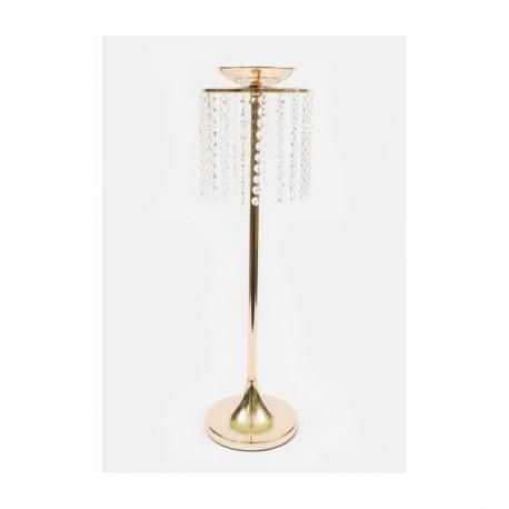 Suport Metalic Auriu cu Margele din sticla 70 cm Aranjament Evenimente