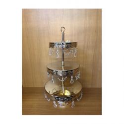 Suport Metalic Auriu Elegant 3 etaje Candy Bar
