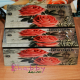 Cutie bijuterii vintage cu trandafiri