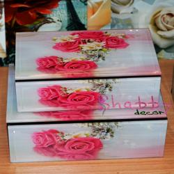 Cutie bijuterii vintage Pink Roses