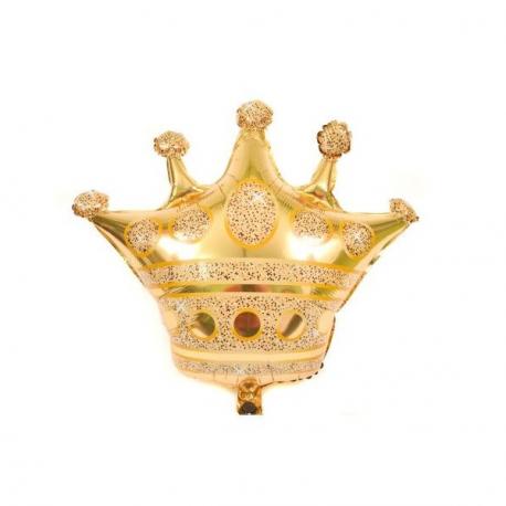 Balon Folie Coroana Aurie - Decor Eveniment