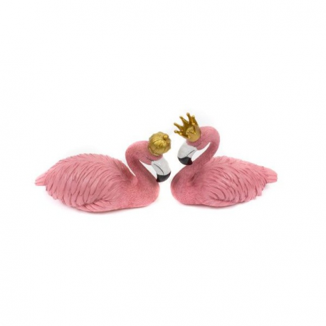 Ornament Extravagant Pereche Flamingo Rege si Regina - Decor Eveniment