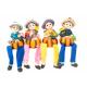 Set 4 Figurine Copilasi cu Pantalonasi Dovleac pentru Decor