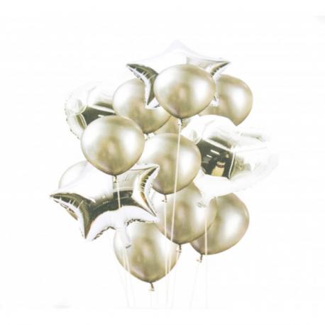 Set 14 Baloane Inima Stea Rotunde