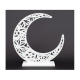 Decor Evenimente Semiluna Stilizata alba mica