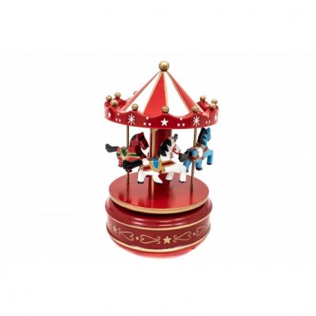 Jucarie Carusel din lemn - Cutiuta muzicala