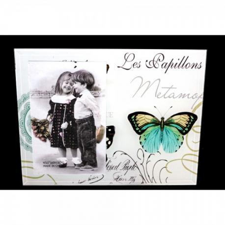 Rama Foto din sticla cu Fluture