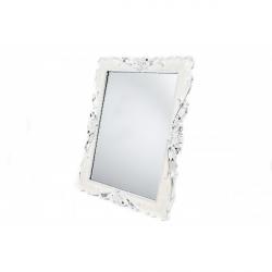 Oglinda Sidefata Crem Model Trandafiri cu Decor Elegant