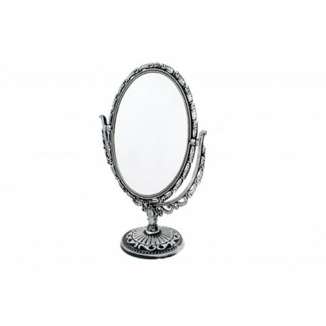 Oglinda de Masa Ovala Argintiu Antichizat Eleganta