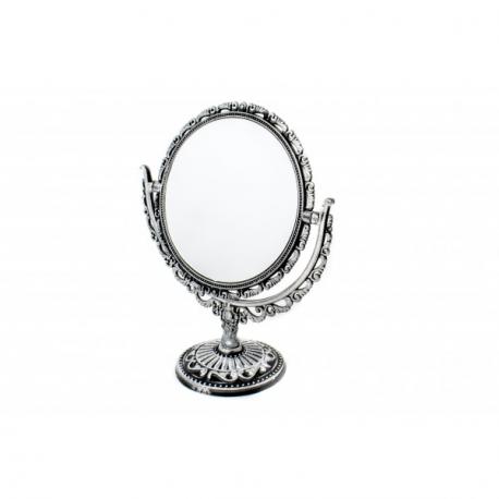 Oglinda de Masa Rotunda Argintiu Antichizat Eleganta