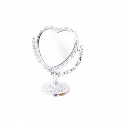 Oglinda de Masa Inima Argintie Eleganta