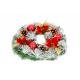 Coronita Usa cu Conuri de Brad si Floarea Craciunului- Decor Craciun