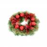 Coronita Usa cu Flori si Globuri rosii - Decor Craciun