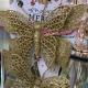 Decoratiune Craciun set fluturi aurii