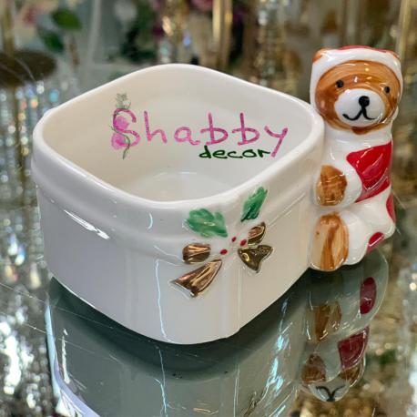 Suport din ceramica cu ursulet