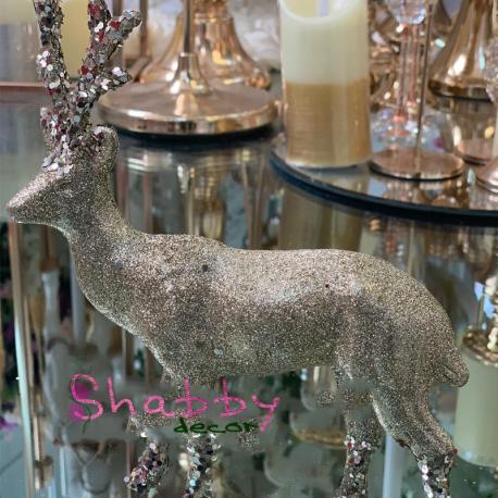 Cerb argintiu decoratiune