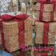 Set cutii cadou auriu cu rosu