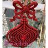 Decoratiune brad fundita rosie eleganta